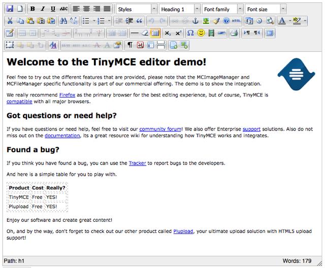 Tinymce Demo