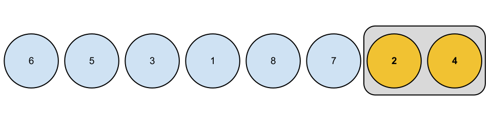 In bubble sort we've to compare each two adjacent elements